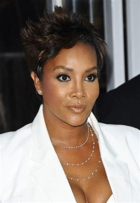 razor cut styles for african americans vivica a fox short hairstyle spiky razor cut