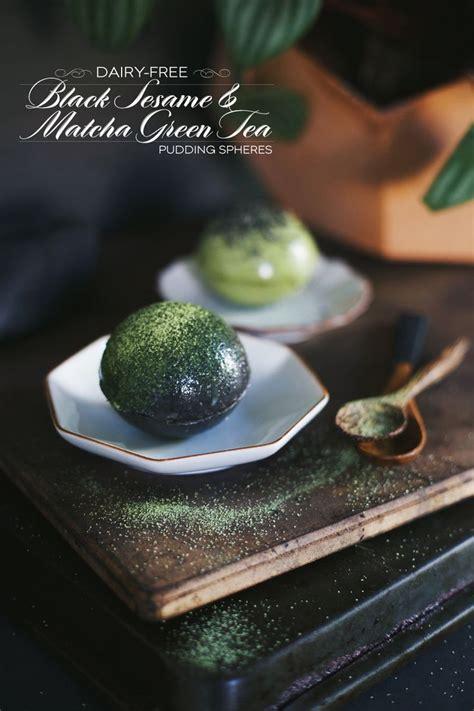 Silky Pudding Green Tea Matcha 320gr dairy free matcha green tea black sesame pudding spheres dine x design dessert recipes
