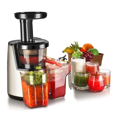 Juicer Homzace in home cold press juicers juicer machine