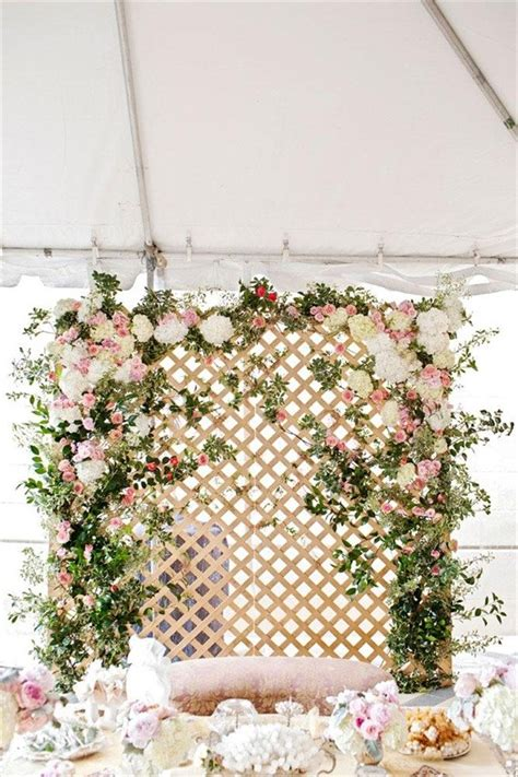 Wedding Backdrop Lattice by Flower Backdrops For Weddings