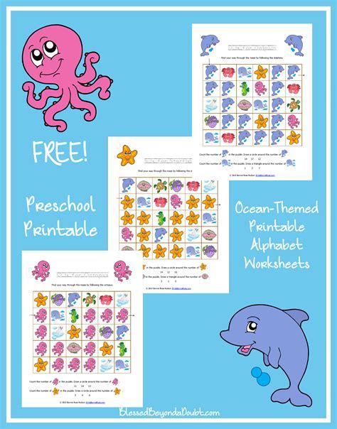 ocean themed printable alphabet worksheets