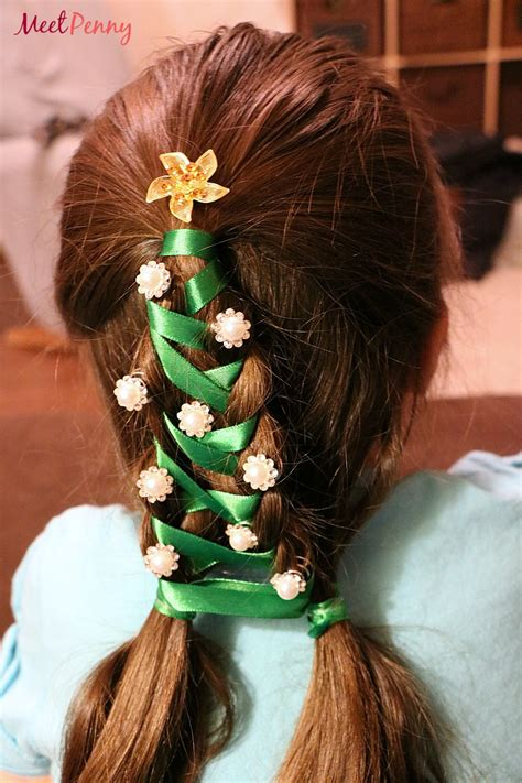christmas tree hairstyle for girls tree braid kit for meet