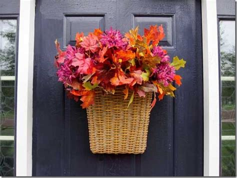ideas to decorate for fall how to easily decorate your front door for fall in my