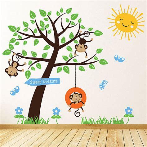 monkey wall sticker children s monkey tree wall stickers by parkins interiors