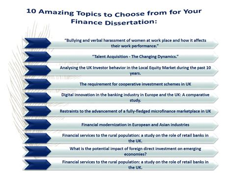 dissertation ideas how to find topics for finance dissertation