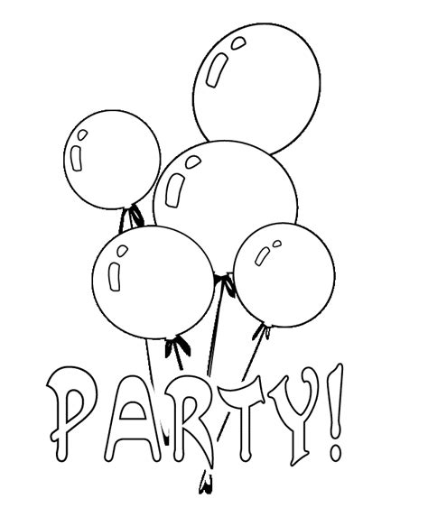 coloring pictures of birthday balloons party balloon coloring page printables pinterest