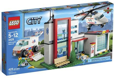 city rescue lego city helicopter rescue set 4429 new ems paramedic ambulance hospital town ebay