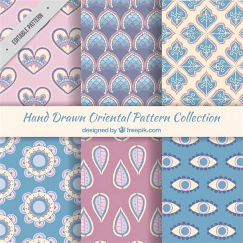asian pattern ai oriental patterns in pastel colors vector free download