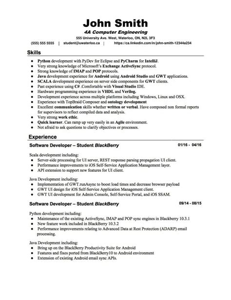 resume critiques waterloo festooning resume