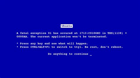 wallpaper blue screen of death linux ubuntu blue screen of death einfache wallpaper