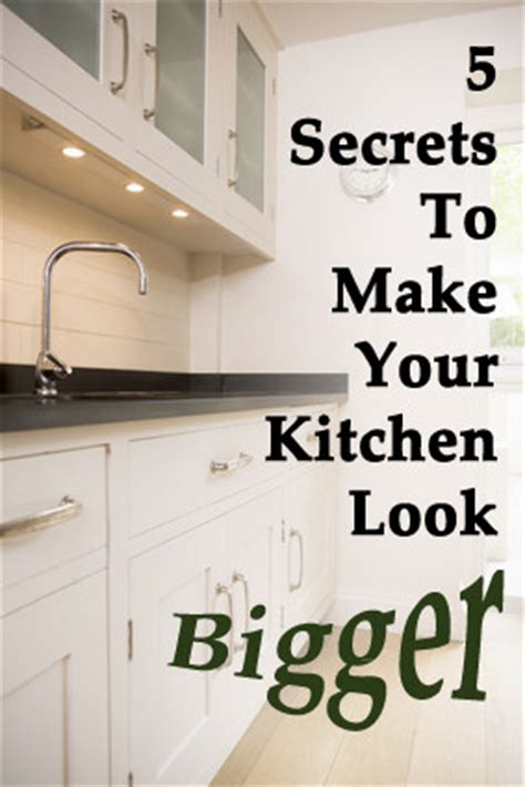 5 secrets to make small kitchen looks bigger thinkhom
