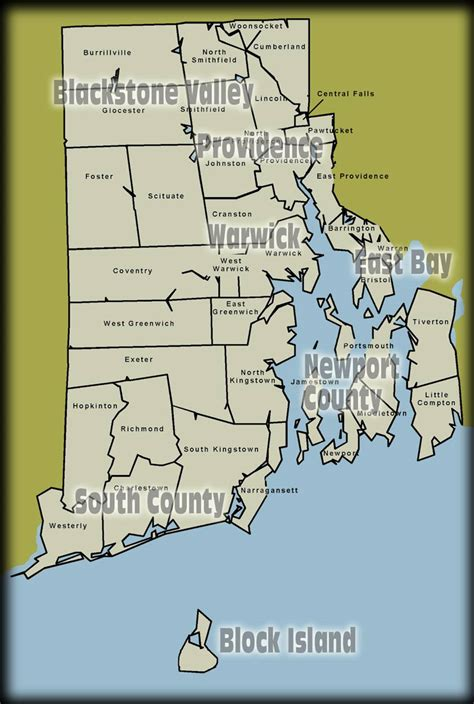 rhode island on map rhode island map free printable maps