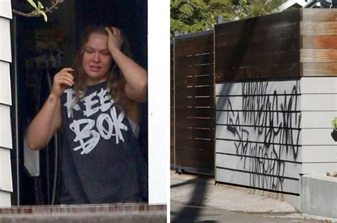 ronda rousey house ronda rousey s first post fight pictures vandals hit ufc star s home ufc