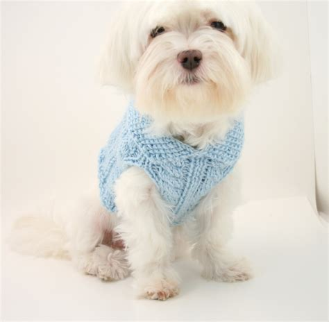 knitting pattern puppy jumper knit dog sweater pattern cabled dog sweater
