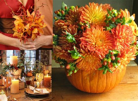 pumpkin bouquet centerpieces fall pumpkin centerpiece