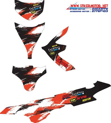 Sticker Striping Motor Stiker Suzuki Sky Wave Hijau Spec A 2 striping motor custom design stikermotor net part 25