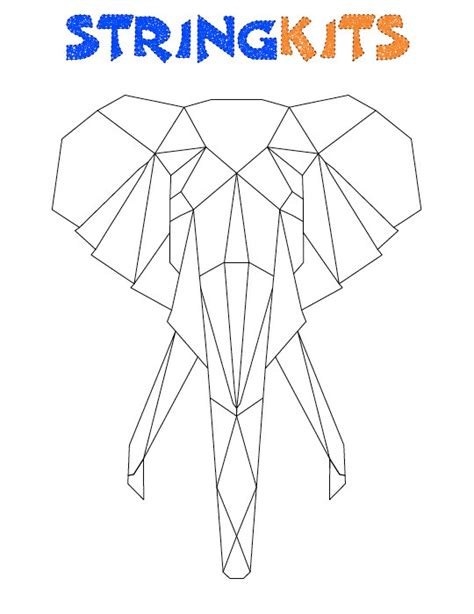 painting template elephant string template from stringkits on etsy studio