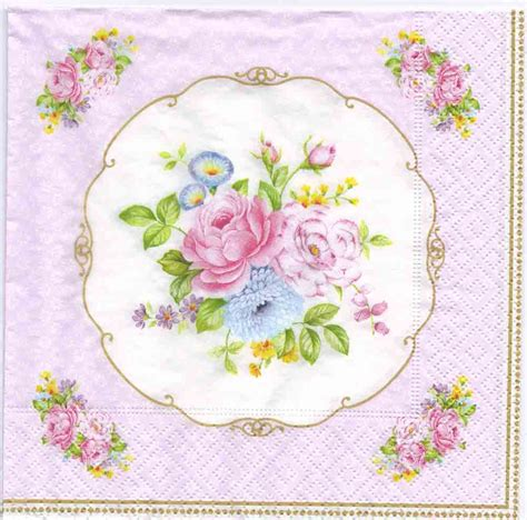 Decoupage Napkin - decoupage napkins of vintage bouquet