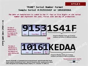 Trane furnace model numbers