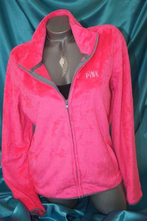 Make Screet Jacket Hoodie small s secret pink soft fleece windbreaker zip hoodie jacket nwt