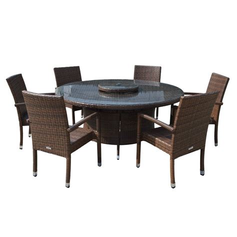 garden dining set large table with 6 chairs in