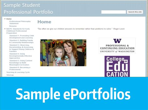 ecfs eportfolio resources college of education