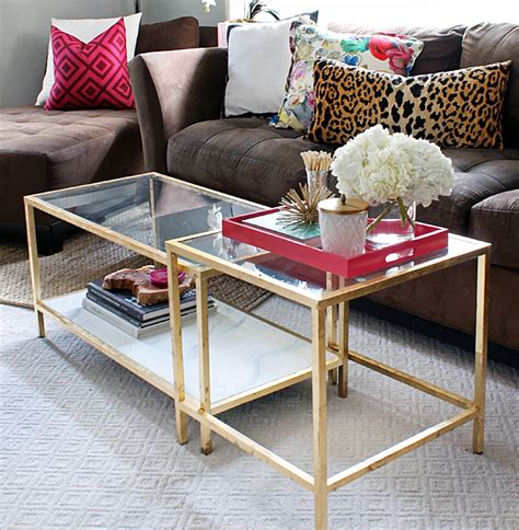 Coffee Table Hack The Blushing Ikea Hack Gold Coffee Table