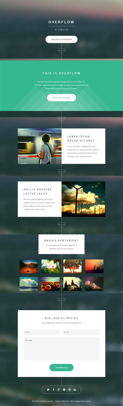 free html5 web templates overflow free html5 website template