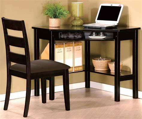 Corner Desk With Chair Black Corner Desks For Home Office