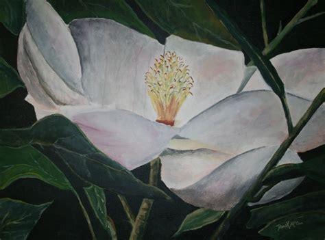 magnolia flower painting by derekmccrea on deviantart