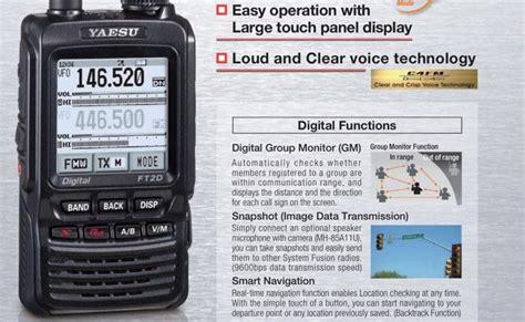 Ht Yaesu Ft 2dr Touchscreen yaesu ft2dr c4fm fm 144 430 mhz dual band digital qrz now radio news