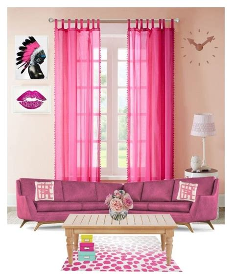 fuschia living room by dwikiwardoyo on polyvore featuring