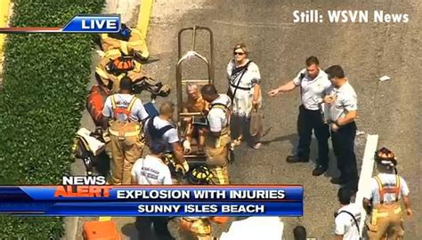 deco drive wsvn tv 7news miami ft lauderdale news several injured in sunny isles beach fl explosion fire