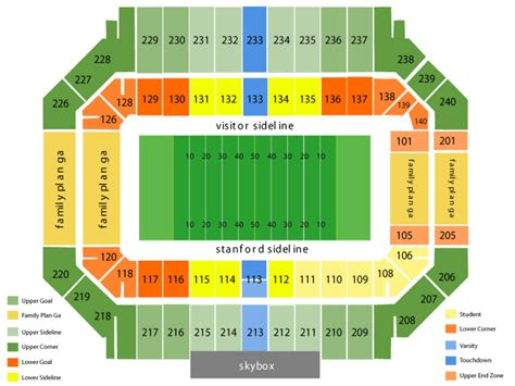 stanford stadium seating stanford stadium seating chart and tickets