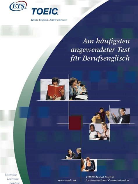 Bewerbung Englisch Einstufung Toeic Test Of For International Communication Projekte Gbb Gesellschaft F 252 R