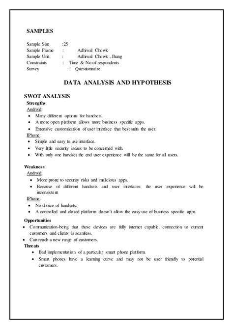 Research Report Exle User Research Report Template