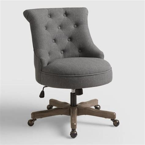 World Market Office Chair by Charcoal Elsie Upholstered Office Chair World Market