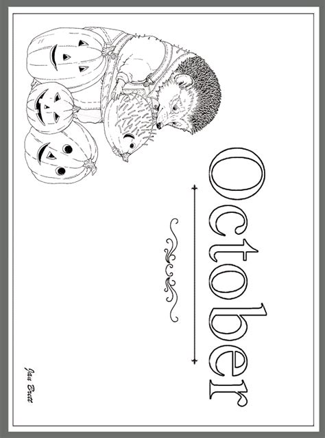 jan brett s months of the year coloring pages october