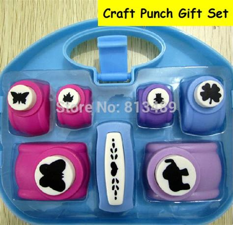 craft paper punch set new 7pcs craft punch set paper cutter furador de