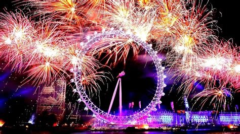 uk new year happy new year in fireworks 2017