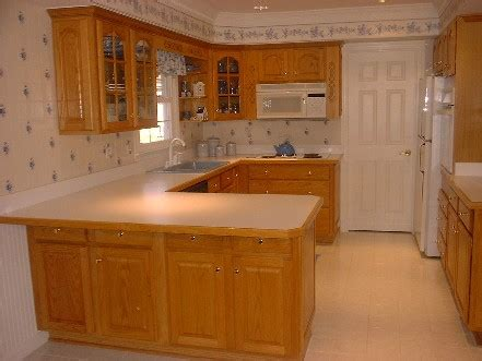 kitchen remodel with golden oak cabinets to paint your wood kitchen cabinetry
