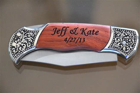 personalized engravings engraved knife personalized engraved knife by