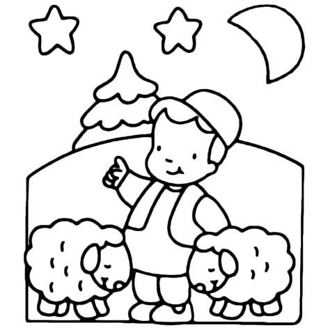Coloriage Berger Et Ses Moutons A Imprimer Gratuit