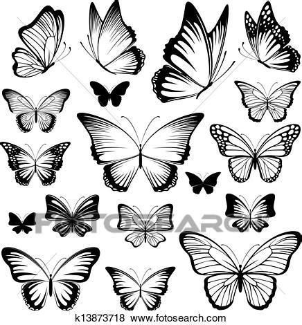 Farfalle Clipart Farfalla Tatuaggio Silhouette Clip K13873718