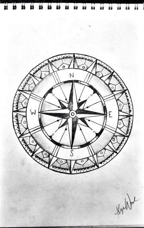compass drawing sketch compass black and white tattoo