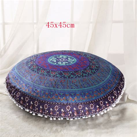 Ottoman Pillows Large Elephant Mandala Floor Pillow Covers Meditation Cushions Ottoman Poufs Ebay