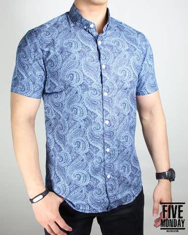 Jual Baju Batik Kaskus jual kemeja batik katun navy floral k0031 kaskus
