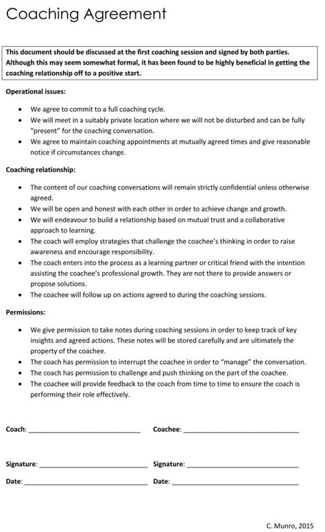 Bloggingchallenge A Coaching Journey Coaching Contract Template
