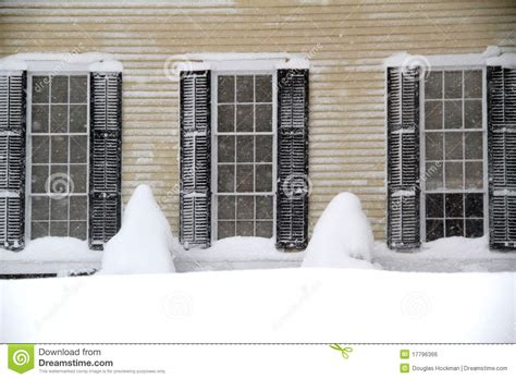snow on windows windows and snow drifts stock photo image of snow 17796366