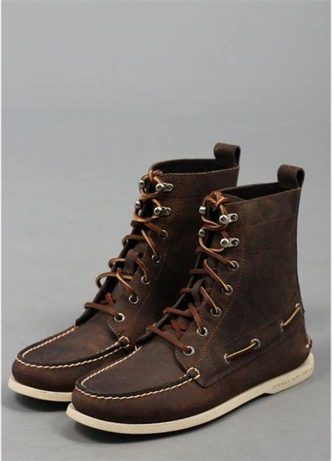 sperry 7 eye boot brown
